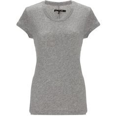Rag & Bone Heather Grey Basic Brando T-Shirt (£19) ❤ liked on Polyvore featuring tops, t-shirts, shirts, blusas, grey, short-sleeve shirt, urban t shirts, gray shirt, heather grey t shirt and gray t shirt
