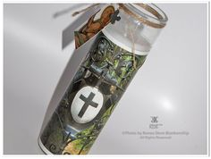 Cross Shield Gate Candle  | Photo on Glass by theRDBcollection for $24