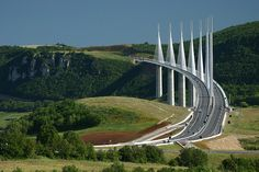 Sir NOrman Foster's Viaduc de Millau - an incredible masterpiece located in Aveyron, Midi-Pyrenees, France. PHoto by Domi Rolland on Flickr