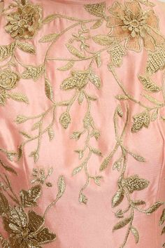 Rose pink lace applique work draped kurta set available only at Pernia's Pop-Up Shop.