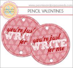 Valentine pencil topper