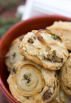 Mushroom Onion Scones are light and tender inside, crispy outside and full of flavor throughout