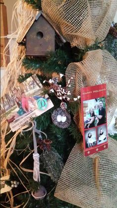 Place Christmas cards on Christmas tree!