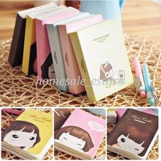 Cute Mini Cookie Diary Notebook Memo Girl Journal Notepads Stationery Organizer