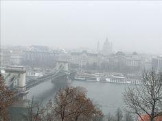 De kettingbrug in Boedapest, winter 2016