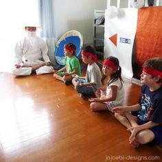 Ninjago Birthday Party - The games 5 min meditation - Sensei Wu style