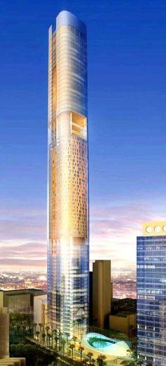 Four Seasons Hotel Tower 2, Mumbai, India by Gensler Architects :: 71 floors, height 355m