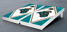 Our Coastal Carolina University CCU Chanticleers Cornhole Game Set Diamond Wooden. Get your custom set at victorytailgate.com