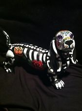 Sugat Skull Day Of The Dead Dotson Dachshund Weiner Dog Figurine Art