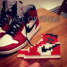 Nike Air Jordan perler beads by caveofpixels