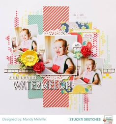 Stuck?! Sketches March 1 2016 challenge DT layout by Mandy