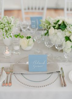 Mixed arrangements with smaller, single-flower-type arrangements, on a long table Spring Wedding, Wedding Blog, Wedding Events, Our Wedding, Destination Wedding, Table Top Design, Types Of Flowers, Flower Centerpieces, Wedding Locations