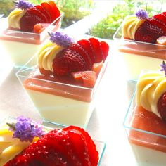 Honey Lavender Panna Cotta with Fresh Rhubarb & Rhubarb Bitters ...
