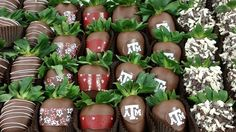 Chocolate covered strawberries are a Valentine's Day classic. Check out these beautiful ones from The Chocolate Gallery!