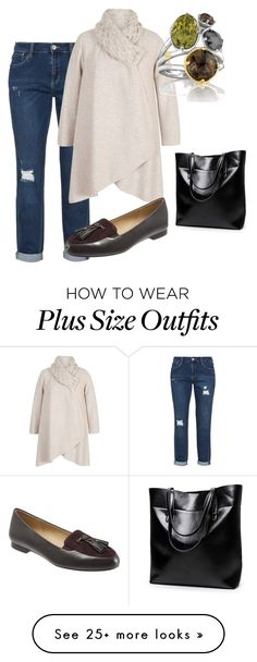 """plus size sophie"" by aleger-1 on Polyvore featuring Chesca, Trotters and Tacori"