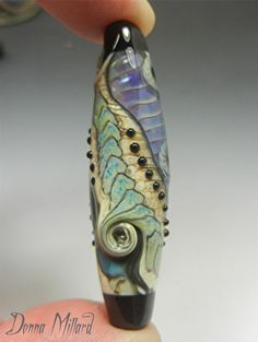 SRA HANDMADE LAMPWORK Glass Focal Bead Donna by DonnaMillard