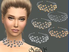 NataliS_Multilayer metal wire necklace   Sims 4 Updates -♦- Sims Finds & Sims Must Haves -♦- Free Sims Downloads