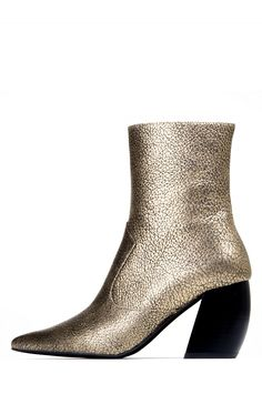 Jeffrey Campbell Shoes DRESDEN Heels in Gold Crinkle