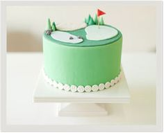 golf course cake in pastels