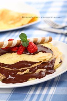 GATEAU DI CREPES. Una vera delizia per gli occhi e  per il palato! #gateau #crepes #dolce #dessert #crespella