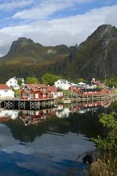 The town of Svolvær, Nordland County, Lofoten n Vesteral Islands_ Norway