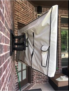 Outdoor TV Cover - Universal Weatherproof Protector for Flat Screen TVs - Fits Most TV Mounts and Stands - Beige Outdoor Tv Stand, Outdoor Tv Mount, Outdoor Tv Covers, Outdoor Bars, Patio Tv Ideas, Sunroom Ideas, Backyard Patio Designs, Yard Ideas, Tv Cover Up