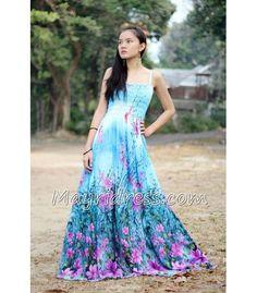 Blue Maxi Dress Plus Size Dress Prom Dress Wedding Dress Summer Sexy Bridesmaids Coast