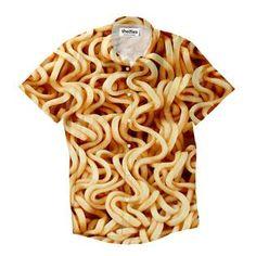 Ramen Invasion Short-Sleeve Button Down Shirt by Shelfies Button Down Shirt, Button Shirts, Hoodies, My Style, Ramen, Collection, College, Diet, Fashion