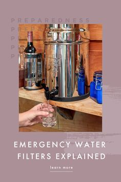 When disaster strikes, you need to be prepared. One way in which we prepare is by having emergency water filters at the ready. Emergency Water, Water Filters, Water Purification, Water Bottle, Health, Health Care, Water Flask, Water Bottles, Salud