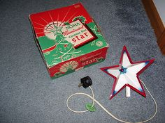 40's Christmas tree top images | VTG 40'S NOMA CHRISTMAS TREE STAR TOP TOPPER LIGHT C7 BULB BOX NO 69 ...