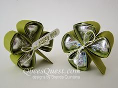 Shamrock and clover video tutorial at Qbees Quest