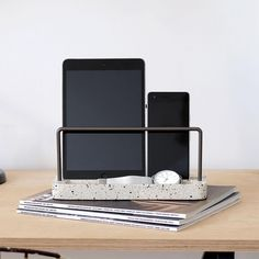 Stackers | Gifts For Him Patent Office, Contemporary Desk, Home Free, Desk Organization, Terrazzo, Gifts For Him, Christmas Gifts, Tech, Organisation