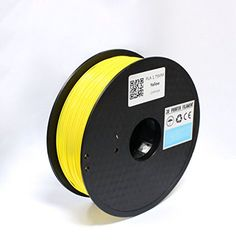 TRITECHNOX 1.75mm PLA 3D Printer Filament - 1kg Spool (2.2 lbs) - Dimensional Accuracy  /- 0.05mm (YELLOW) -- You can find out more details at the link of the image.