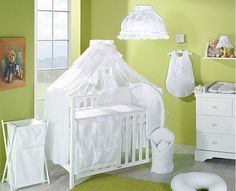Luxury Baby Canopy/Mosquito Net 480 cm for Cot Bed + Holder/Rod (White)