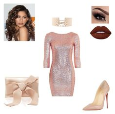 """""""My style 14"""" by jstyle23 on Polyvore featuring Topshop, Coleman, Christian Louboutin, Lime Crime and Oscar de la Renta"""