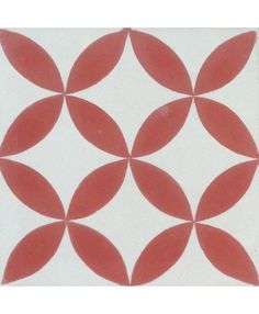 Petals Red Encaustic Cement Tile