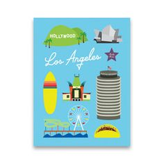 Hey, look what I found! Check out Iconic Los Angeles Art Block by Postal Modern by Tamara Mayne on Bezar