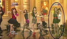 Taeyeon's mistake @ live performance.