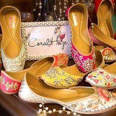 Pretty Juttis by @coralhazeofficial |#bigindianwedding #indianwedding #indianbride #wedding #juttis #jootis #designerwear #designerfootwear #bridalshoes #shoelove #embroidered #embellished