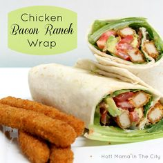 Chicken Bacon Ranch Wrap With Avocados