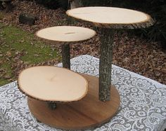 Rustic Wedding Cake Stand Cupcake Stand Rustic by YourDivineAffair