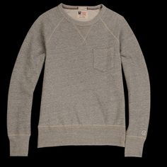 UNIONMADE - Todd Snyder Champion - Vintage Sweatshirt with Pocket in Grey Heather