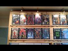Comic Book Storage Ideas Closet Ideas For 2019 Comic Book Rooms, Comic Book Frames, Comic Room, Comic Book Storage, Comic Book Display, Book Displays, Dog Toy Storage, Art Storage, Storage Shelves
