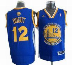 Golden State Warriors 12# Andrew Bogut road blue jerseys $19.5