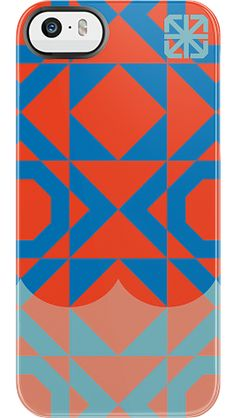 """""""Geometric Dip"""" by The Seventh Letter for the iPhone 5/5s Black Bezel Deflector"""