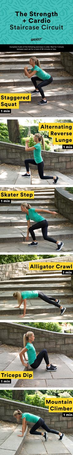 It's time to step up your workout. #staircase #wor…