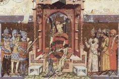 The Frontispiece of the Képes Krónika, Hungary, 1360