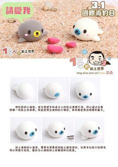 Kawaii Seal Polymer Clay Tutorial