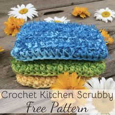This crochet kitchen scrubby is designed to have the same look and feel as your kitchen sponge, but is 100% cotton and reusable. Quick & easy pattern!