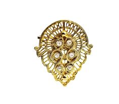 Gold Tone and Rhinestone Brooch by ClassiqueStyle on Etsy, $14.00